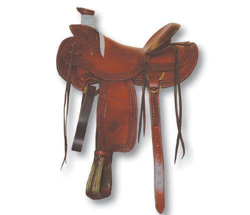 BILLY COOK WESTERN SADDLE MOD  WADE WAFFLE BORDER - 4887