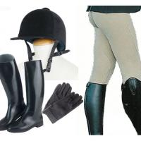 RIDING CLOTHES SET MADE UP OF PANTS-CAP-GLOVES-BOOTS
