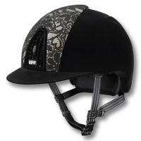 KEP ITALIA HELMET model CHROME FULL VELVET, INSERT FRONT LACE