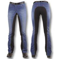 RIDING STRETCH DENIM LADIES JEANS REINFORCED WITH SUEDE