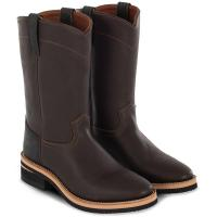 WESTERN BOOTS ROPING POOL'S, TWO-TONE BROWN NUBUCK