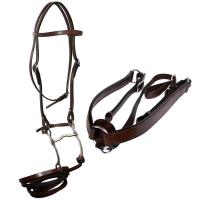 ELITE WESTERN BASKET PATTERN LEATHER BRIDLE WIDE BROWBAND - 4339