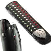 STRAP FOR BOOTS TATTINI LEATHER WITH ITALIAN FLAG IN CRYSTAL