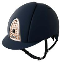 CASCO KEP ITALIA model CROMO T BLUE WITH FRAME AND GRILLE GOLD ROSE