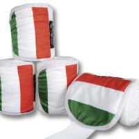SET 4 FLEECE BANDAGES WITH NATIONAL FLAG COLORS