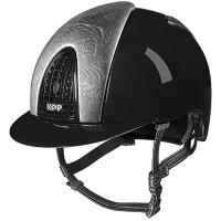 HELMET KEP ITALIA CROMO METAL BLACK FRONT AND REAR ARGENTO FLOREALE