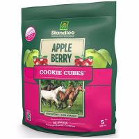 NUTRITIONAL TREATS FOR HORSES STANDLEE APPLE/BERRY COOKIE CUBES 5 Lb - 1090
