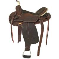 LAKOTA WESTERN SADDLE ROUND SKIRT BASKET LEATHER - 4861
