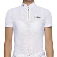 LADIES COMPETITION POLO FULLY PERFORATED CAVALLERIA TOSCANA