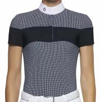 LADIES COMPETITION POLO GINGHAM CHECK CAVALLERIA TOSCANA - 9587