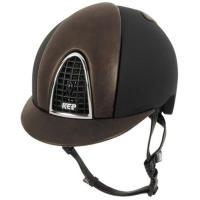 KEP ITALIA HELMET model CROMO T with BROWN LEATHER