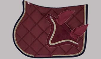 ASUP Saddle Pad and Bonnet Set